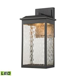 Newcastle Textured Matte Black 8-Inch One-Light Outdoor Wall Lantern