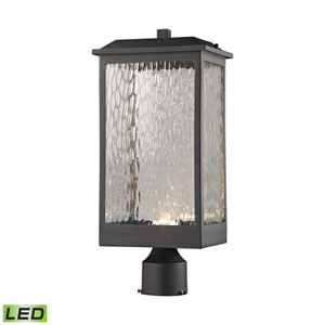 Newcastle Textured Matte Black 8-Inch One-Light Outdoor Post