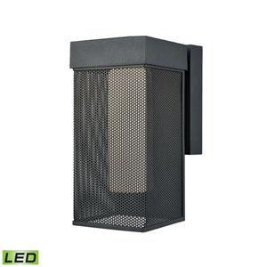 Estacada Matte Black 5-Inch One-Light Outdoor Wall Lantern