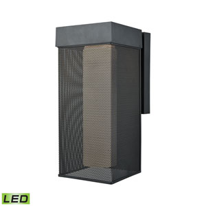 Estacada Matte Black 7-Inch One-Light Outdoor Wall Lantern