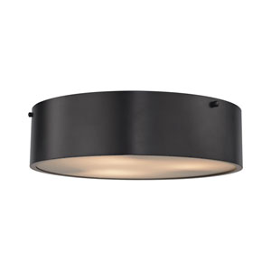 Clayton Oil Rubbed Bronze 16-Inch Three-Light Flush Mount