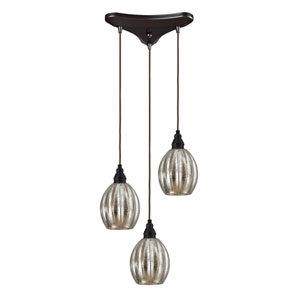 Danica Oiled Bronze Three-Light Pendant