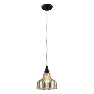 Danica One Light Pendant In Oiled Bronze