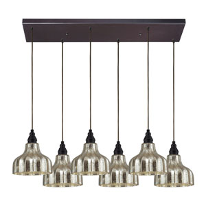 Danica Oiled Bronze Six-Light Pendant