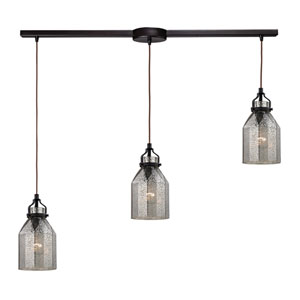 Danica Oil Rubbed Bronze 36-Inch Three Light Chandelier