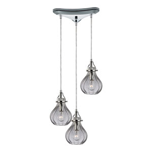 Danica Polished Chrome 7-Inch Three Light Chandelier