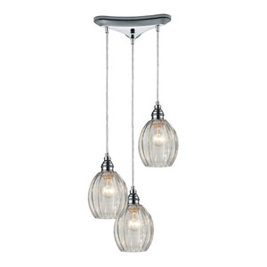 Danica Polished Chrome Three-Light Pendant