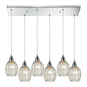 Danica Polished Chrome Six-Light Pendant