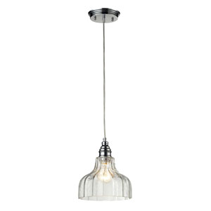 Danica One Light Pendant In Polished Chrome