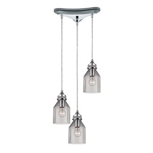 Danica Polished Chrome 10-Inch Three Light Chandelier