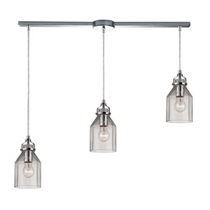 Danica Polished Chrome 11-Inch Three Light Chandelier