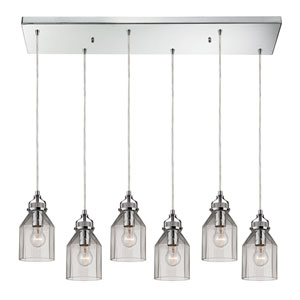 Danica Polished Chrome Six Light Chandelier