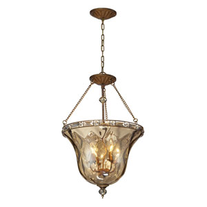 Cheltham Mocha Four-Light Semi Flush Mount
