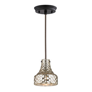 Danica Oil Rubbed Bronze 6-Inch One Light Mini Pendant