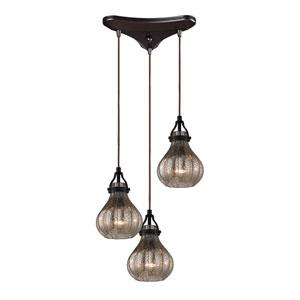 Danica Oil Rubbed Bronze 7-Inch Three Light Chandelier