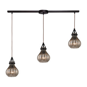 Danica Oil Rubbed Bronze Three Light Chandelier