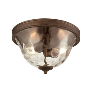 Cheltham Mocha Two-Light Flush Mount