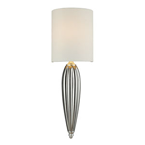 Martique One Light Sconce In Chrome And Silver Leaf