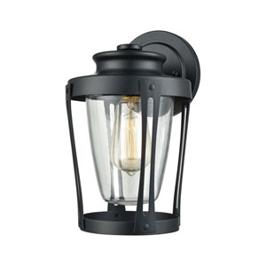 Fullerton Matte Black One-Light Outdoor Wall Lantern