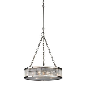 Linden Polished Nickel Three Light Pendant
