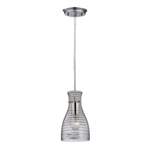 Strata Polished Chrome 10-Inch One Light Mini Pendant