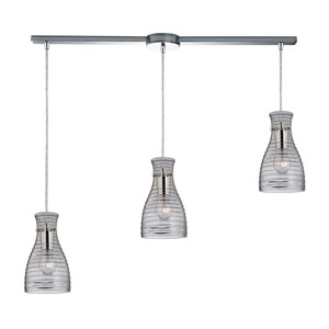 Strata Polished Chrome 36-Inch Three Light Chandelier