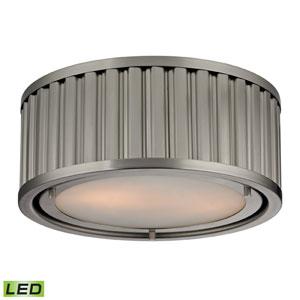 Linden Brushed Nickel LED Two Light Flush Mount Fixture