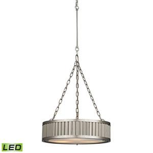 Linden Brushed Nickel LED Three Light Pendant