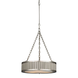 Linden Brushed Nickel 26-Inch Three Light Pendant