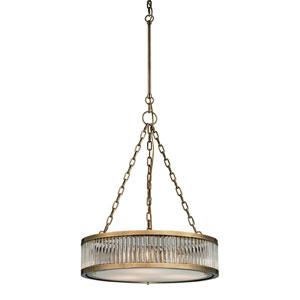 Linden Aged Brass Three Light Pendant