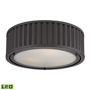 Linden Oil Rubbed Bronze LED Three Light Flush Mount Fixture