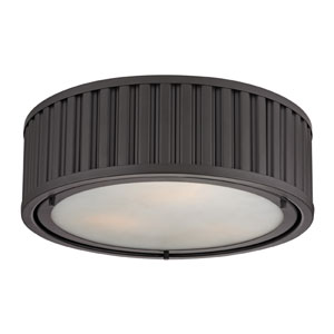 Linden Oil Rubbed Bronze 5-Inch Three Light Flush Mount Fixture