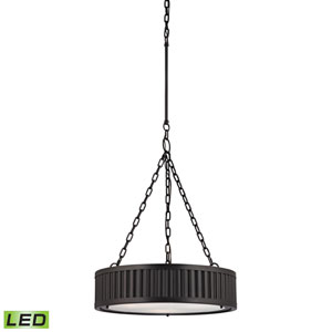 Linden Oil Rubbed Bronze LED Three Light Pendant