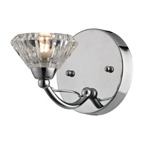 Hawthorne Polished Chrome One Light Bath Fixture