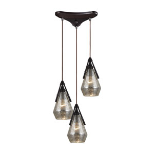 Duncan Oil Rubbed Bronze Three-Light Pendant