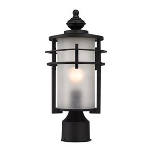 Meadowview Matte Black One-Light Outdoor Post Lantern