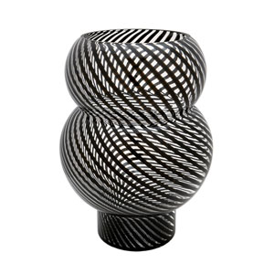 Whirl Bubble Black Vase
