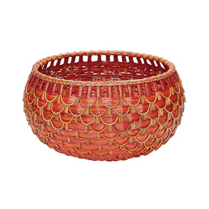 Fish Scale Red 22-Inch Basket