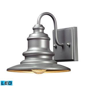 Marina Matte Silver LED One Light Outdoor Wall Sconce