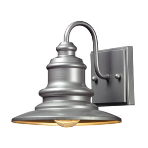 Marina Matte Silver One Light Outdoor Wall Sconce