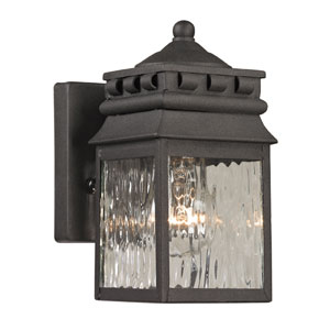 Forged Lancaster Charcoal One Light Outdoor Wall Sconce