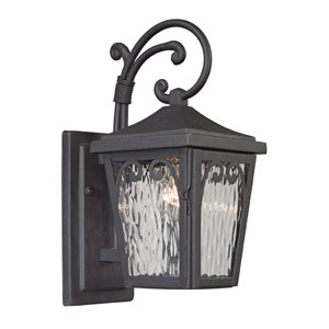 Forged Manor Charcoal One Light Outdoor Wall Sconce