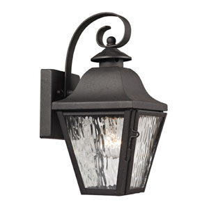 Forged Brookridge Charcoal One Light Outdoor Wall Sconce