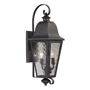 Forged Brookridge Charcoal Two Light Outdoor Wall Sconce