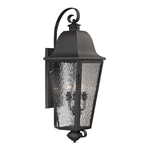 Forged Brookridge Charcoal Four Light Outdoor Wall Sconce