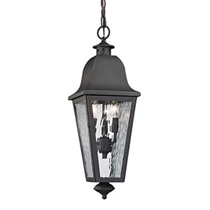 Forged Brookridge Charcoal Three Light Outdoor Pendant