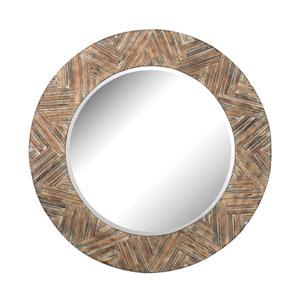 Natural Drift Wood 48-Inch Round Mirror