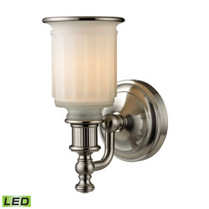 Acadia Brushed Nickel LED One Light Bath Fixture
