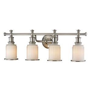 Acadia Brushed Nickel Four Light Bath Fixture