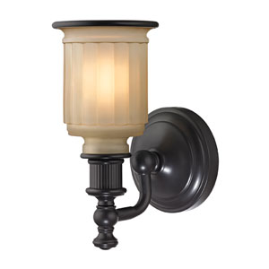 Acadia Oil Rubbed Bronze One Light Bath Fixture